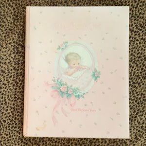 Vintage Pink Baby Book
